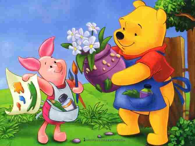 Winnie Pooh and Piglet