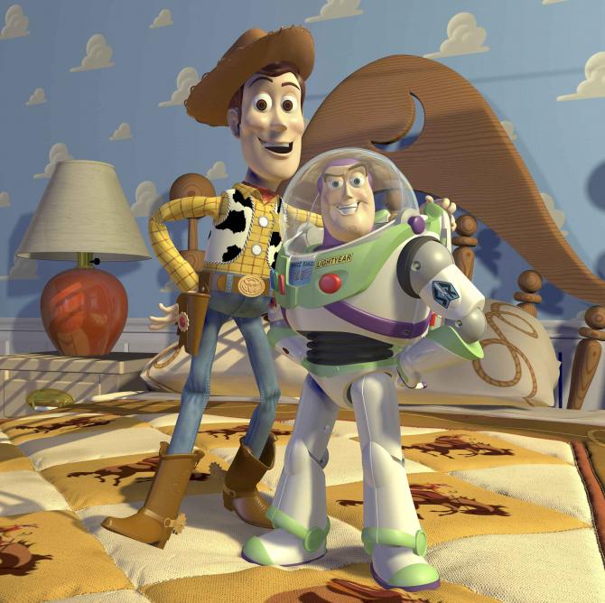Woody och Buzz Lightyear