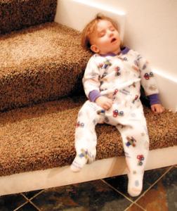 På trappan