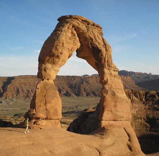 The delicate Rocky Arch (Utah of the USA)