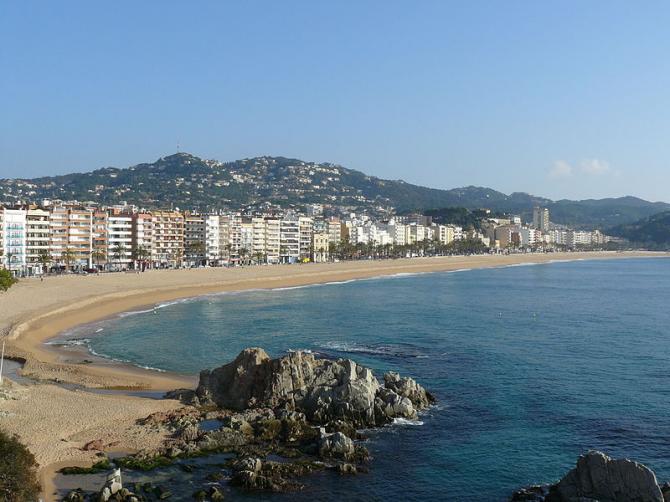 Lloret de Mar-stranden (Girona)