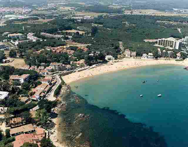 Praia La Fosca em Palamós (Girona)