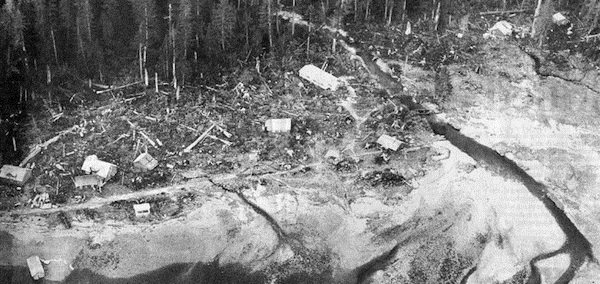 Le tremblement de terre et le tsunami en Alaska, 1964.