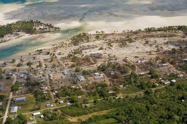 The earthquake and tsunami of Samoa, 2009.