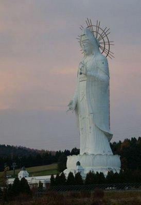Dai Kannon em Kita no Miyako parque de Ashibetsu Hokkaido,