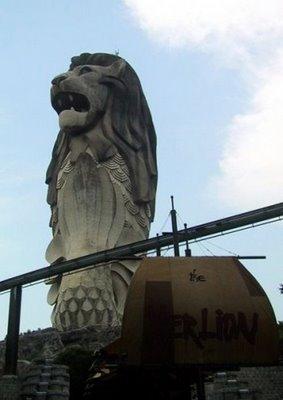 El Merlion de Sentosa