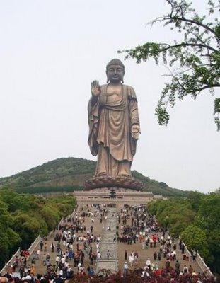 Grand Buddha i Ling Shan i Wuxi Jiangsu-provinsen