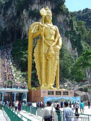 Lord Murugan from the caves of Batu Gombak