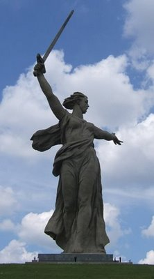 Rodina Mat'Zovyot! Kurgan från Volgograd