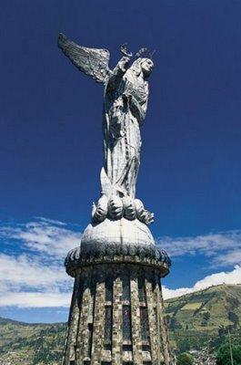 The Virgin of Panecillo Quito