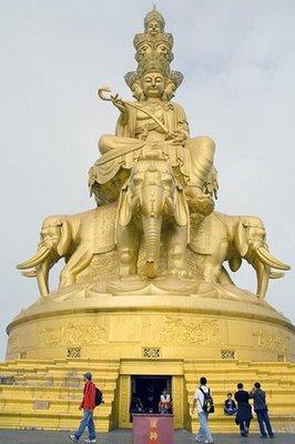 Tio riktningar Pu Xian Buddha från Emei