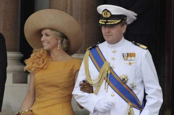 Máxima de Holanda and her husband