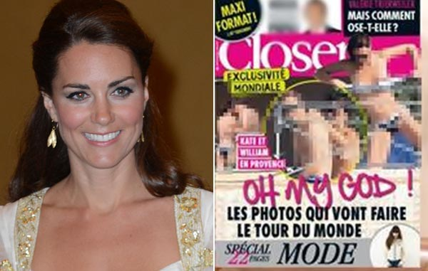 Topless by Kate Middleton