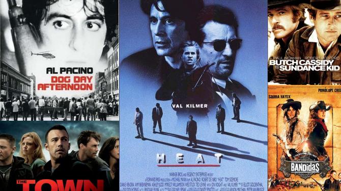 Os melhores assaltos a bancos do cinema