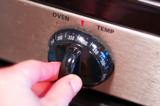 Turn off the oven when there is little left