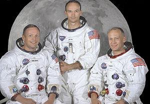Neil Armstrong, Michael Collins et Edwin E. Aldrin