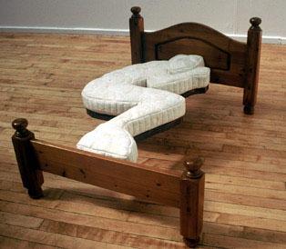 Gjuten säng