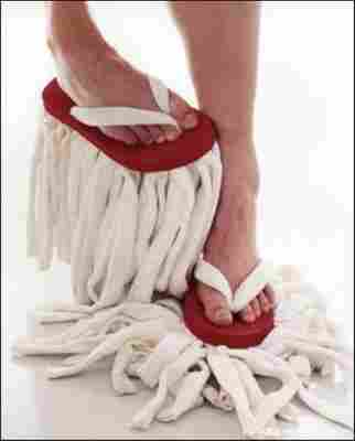 Las zapatillas fregona