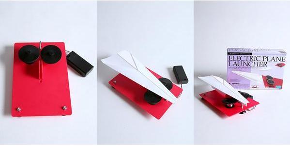 Paper plane electric launcher