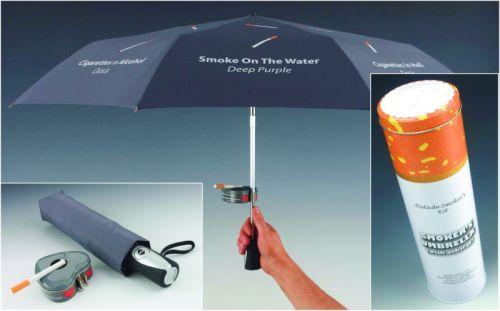 Paraply för rökare