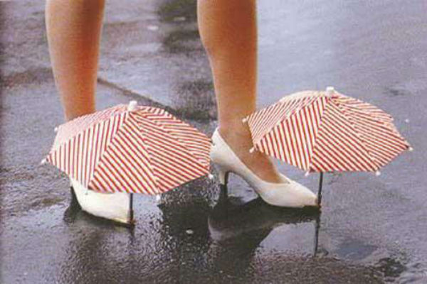 Paraply för skor