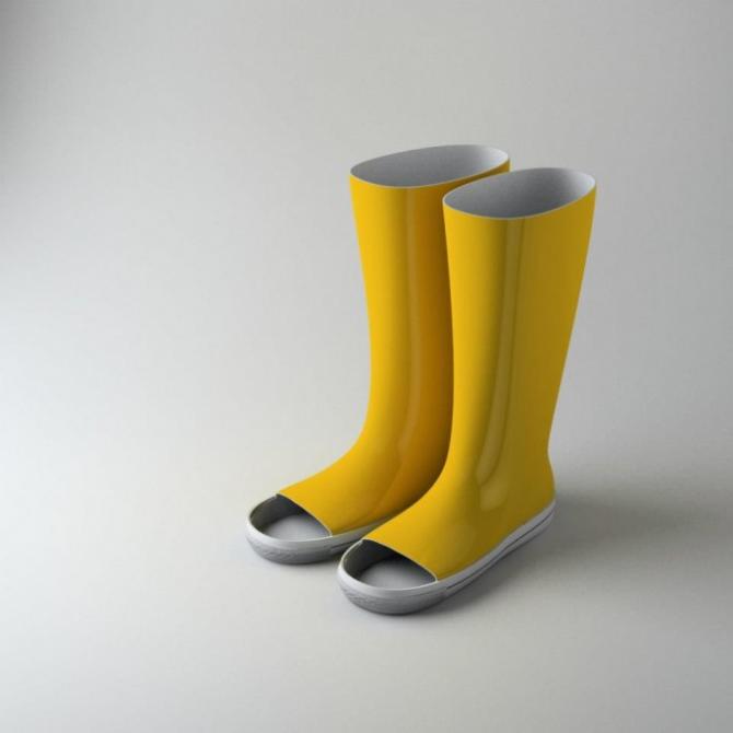 Summer rain boots