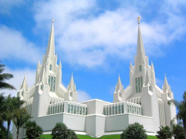 Temple de San Diego en Californie (Mormon)