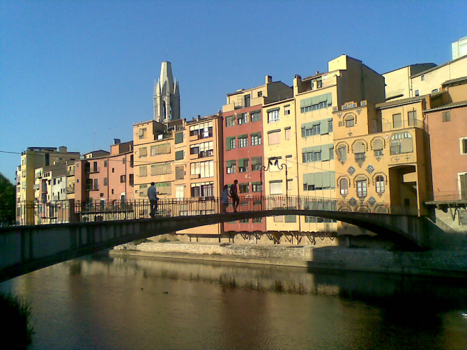 Hanging Houses of Girona on the Oñar River (Province of Girona)