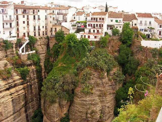 Maisons suspendues de Ronda (province de Malaga)