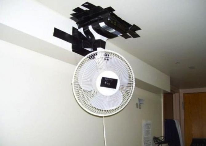 Luftkonditionering i taket