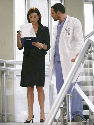 Addison and Alex (Kate Walsh and Justin Chambers)