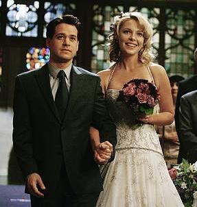 Izzie and George (Katherine Heigl and TR Knight)