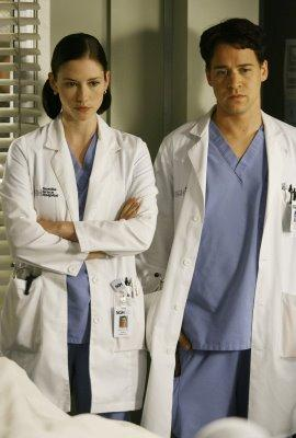 Lexie and George (Chyler Leigh and TR Knight)