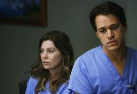 Meredith and George (Ellen Pompeo and TR Knight)