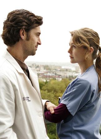 Meredith e Derek (Ellen Pompeo e Patrick Dempsey)