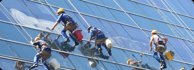 Limpador de janelas para arranha-céus