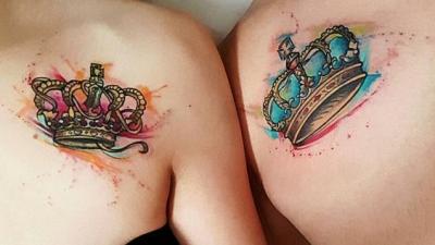 Tatouages de couronne avec différents modèles