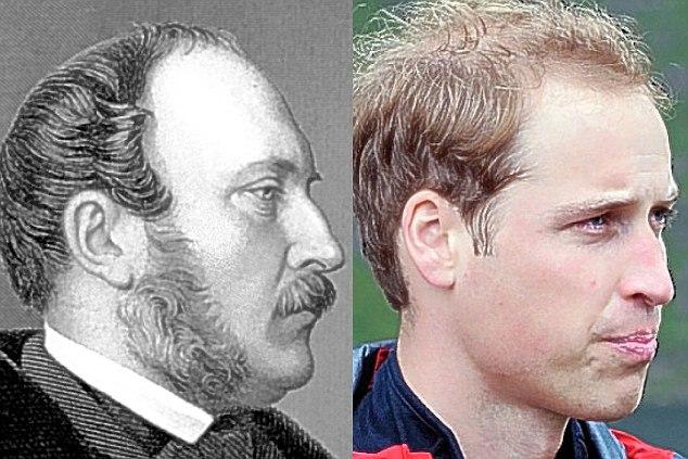 Принц Саксен-Кобургский Альберт (1819-1861) и его пра-пра-пра-пра-внук Уильям