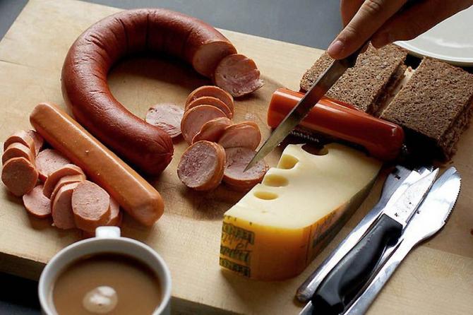 Типичный немецкий завтрак