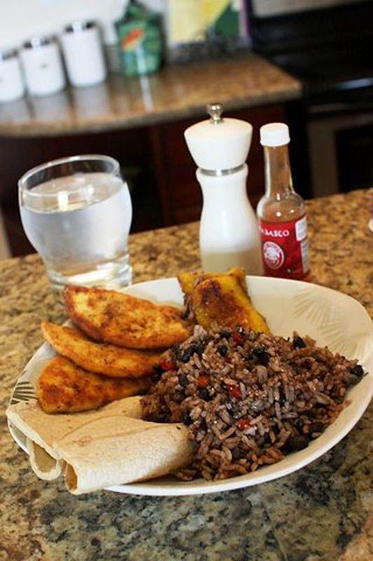 Petit déjeuner au Costa Rica