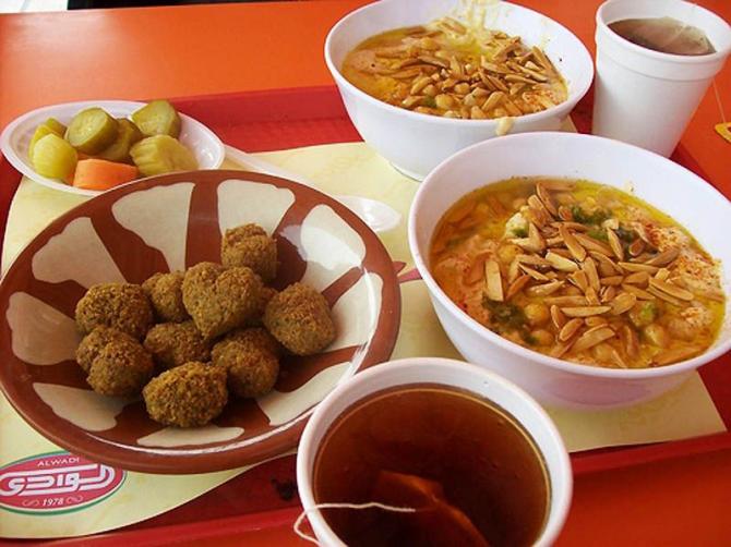Petit déjeuner en Jordanie