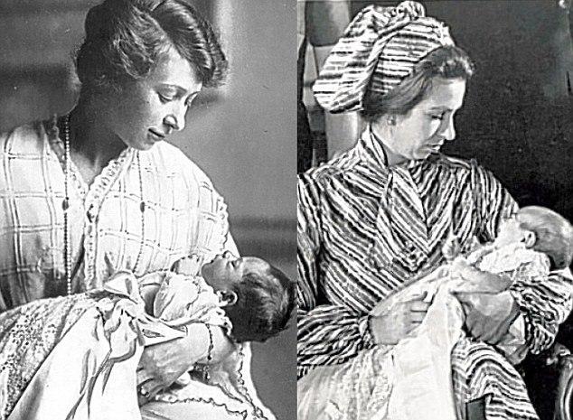 Princesa Maria (1897-1965) e sua sobrinha-sobrinha, Princesa Anne