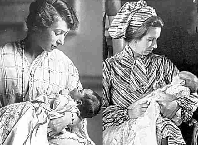 Princess Mary (1897-1965) and her niece granddaughter, Princess Ana