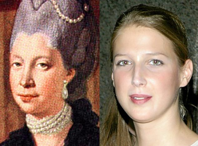 Queen Charlotte (1744-1818), wife of George III, and her descendant, Lady Gabriella Windsor