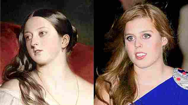 Queen Victoria (1819-1901) and her great-great-great-granddaughter, Princess Beatrice of York