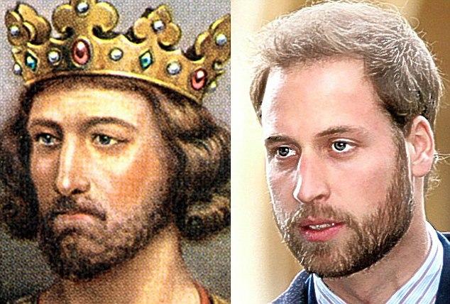 Rei Eduardo (1239-1307) e seu descendente Príncipe Guilherme de Gales