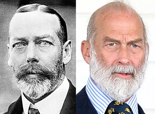 Rei George V (1865-1936) e seu neto, o príncipe Michael de Kent