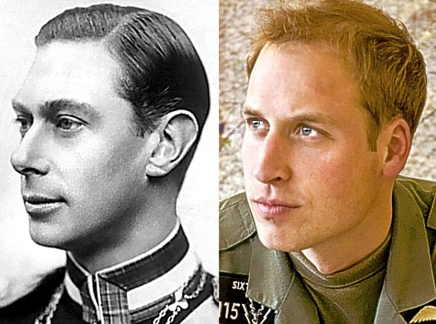 Rei George VI (1894-1952) e seu bisneto, príncipe William, duque de Cambridge