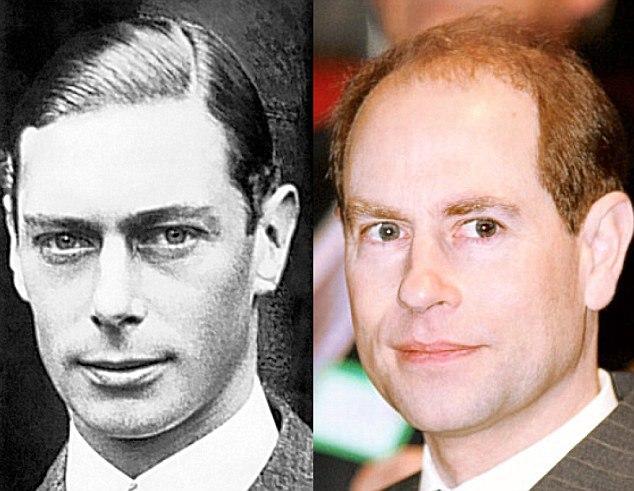 Rei George VI (1894-1952) e seu neto, o príncipe Edward, conde de Wessex