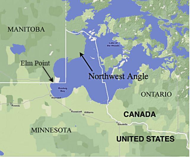 Северо-западный угол, Миннесота